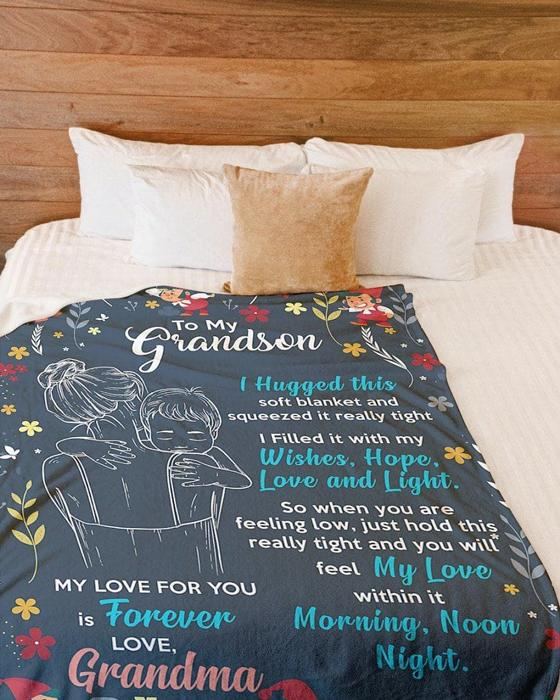 50% OFF Best Gift-To My Grandson, Love Your Grandma-Blanket
