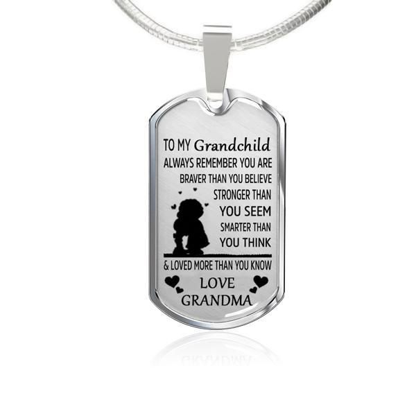 To My Grandchild-Square Necklace