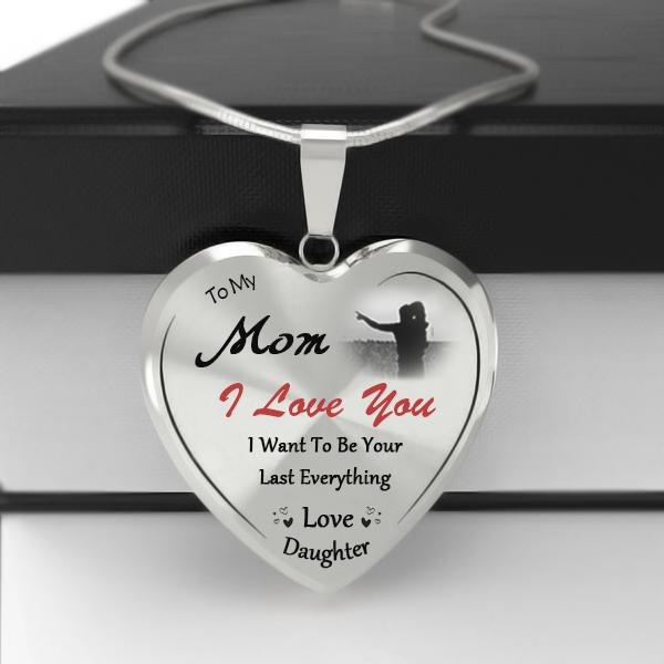 To My Mom Heart Necklace-Forever