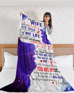 50% OFF Best Gift -Husband To Wife - My Happy Ending - Blanket