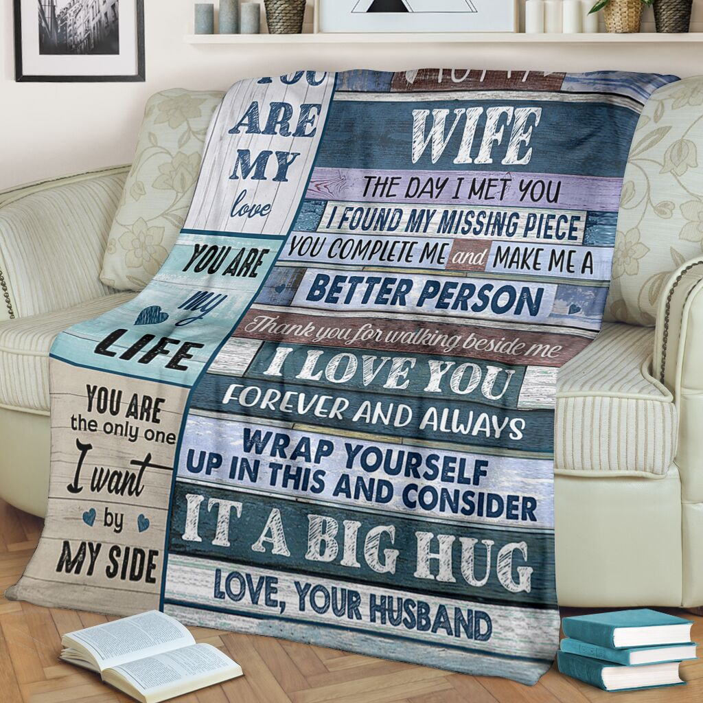 Christmas limited time discount 50%-To my Wife Blanket