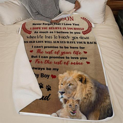 Black Friday limited time discount 50%-To my Son -This old lion will always have your back-Blanket