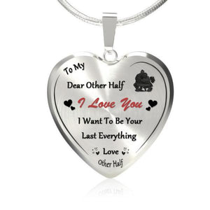 To My Dear Other Half Heart Necklace