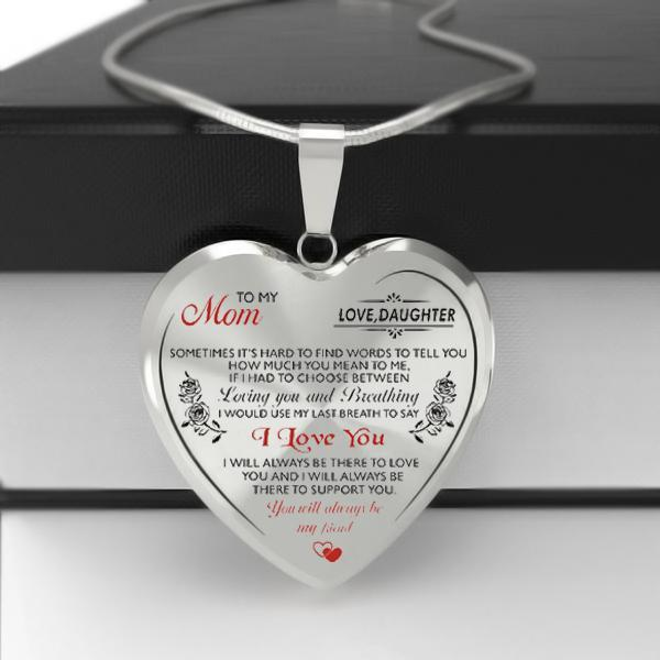 To My Mom Heart Necklace (Mother's Day Special)