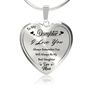 To My Best Daughter Heart Necklace-Love