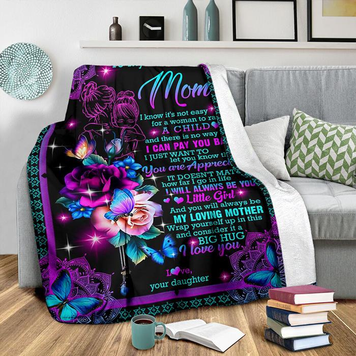 50% OFF Best Gift-To my dear mom, I Love You - Blanket