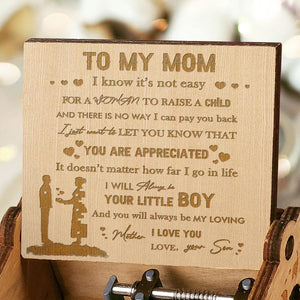 Son To Mom - Mother I Love You - Engraved Music Box