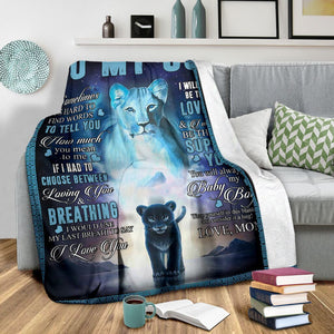 Christmas limited time discount 50% - Mom To Son - I Love You - Blanket