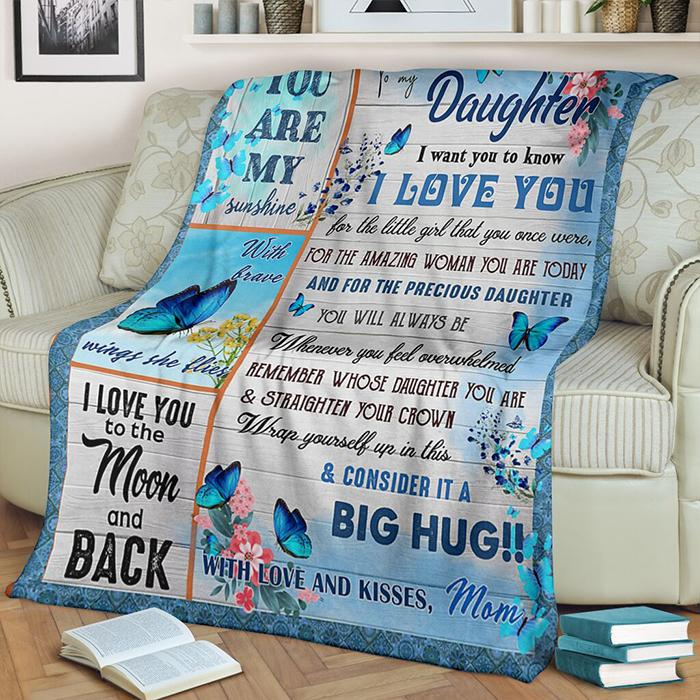 50% OFF Best Gift-To My Daughter, You Are My Sunshine-Blanket