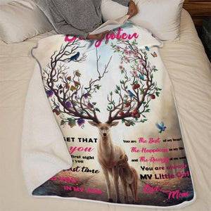 Christmas discount 50% -To my Daughter- elk- Blanket