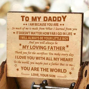 Son To Dad - I love you with all my heart - Engraved Music Box