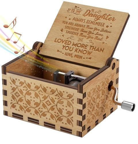 Mum To Daughter ( You Are Loved More Than You Know ) Engraved Music Box