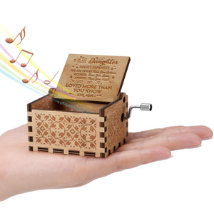 Mum To Daughter - You Are Loved More Than You Know - Engraved Music Box