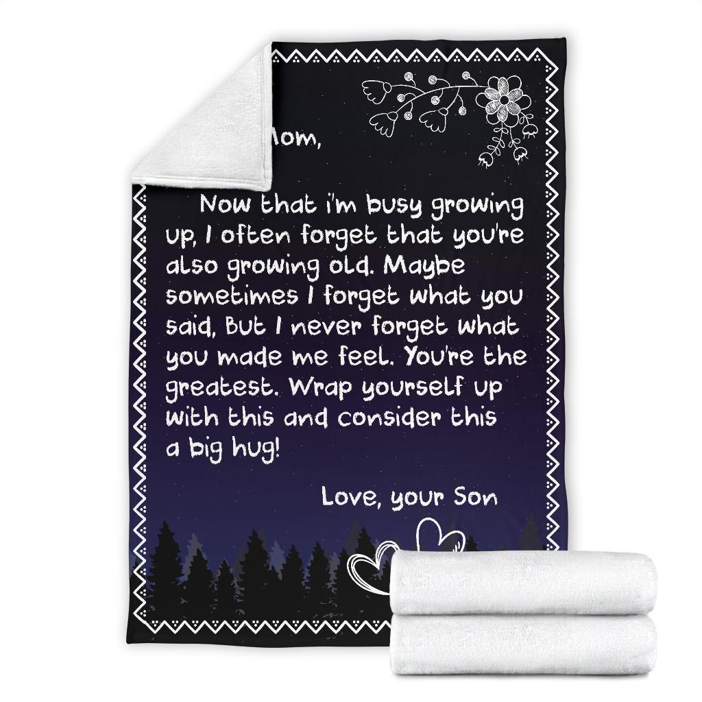 50% OFF Best Gift -TO MY MOM - LOVE SON BLANKET