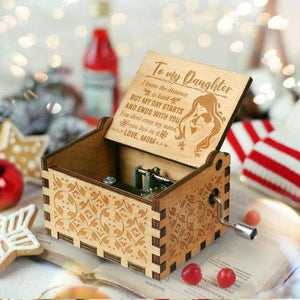 Mom To Daughter ( My Day Starts And Ends With You ) Engraved Music Box