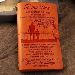 Son To Dad - I am because you are - Vintage Journal