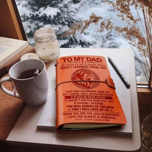 Daughter To Dad - I love you always & forever - Vintage Journal