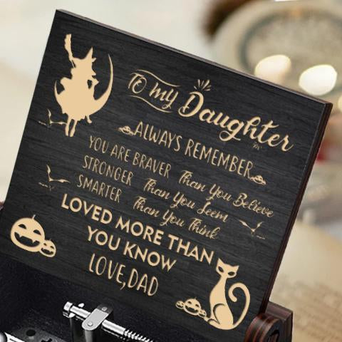 Dad To Daughter - Happy Halloween- Black Music Box