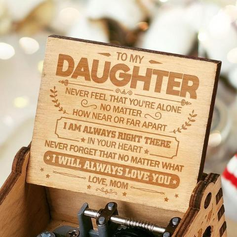 Mom To Daughter ( I Will Always Love You ) Engraved Music Box