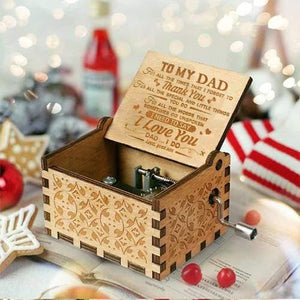 Son To Dad - I Need To Say I Love You - Engraved Music Box