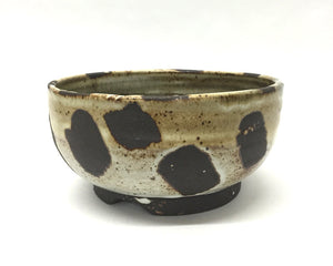 spotted bowl // black stoneware // earthy