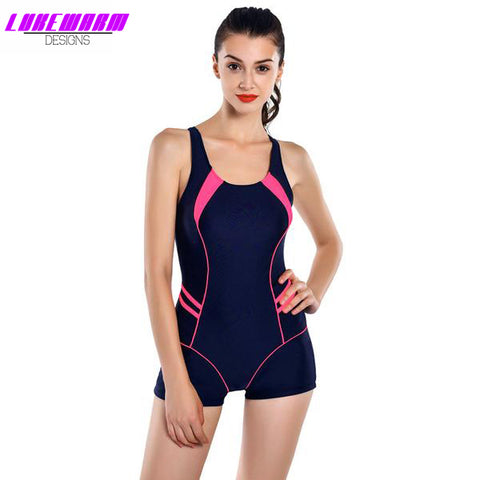 Sporty One Piece Backless Bathing Suit - Lukewarm Designs