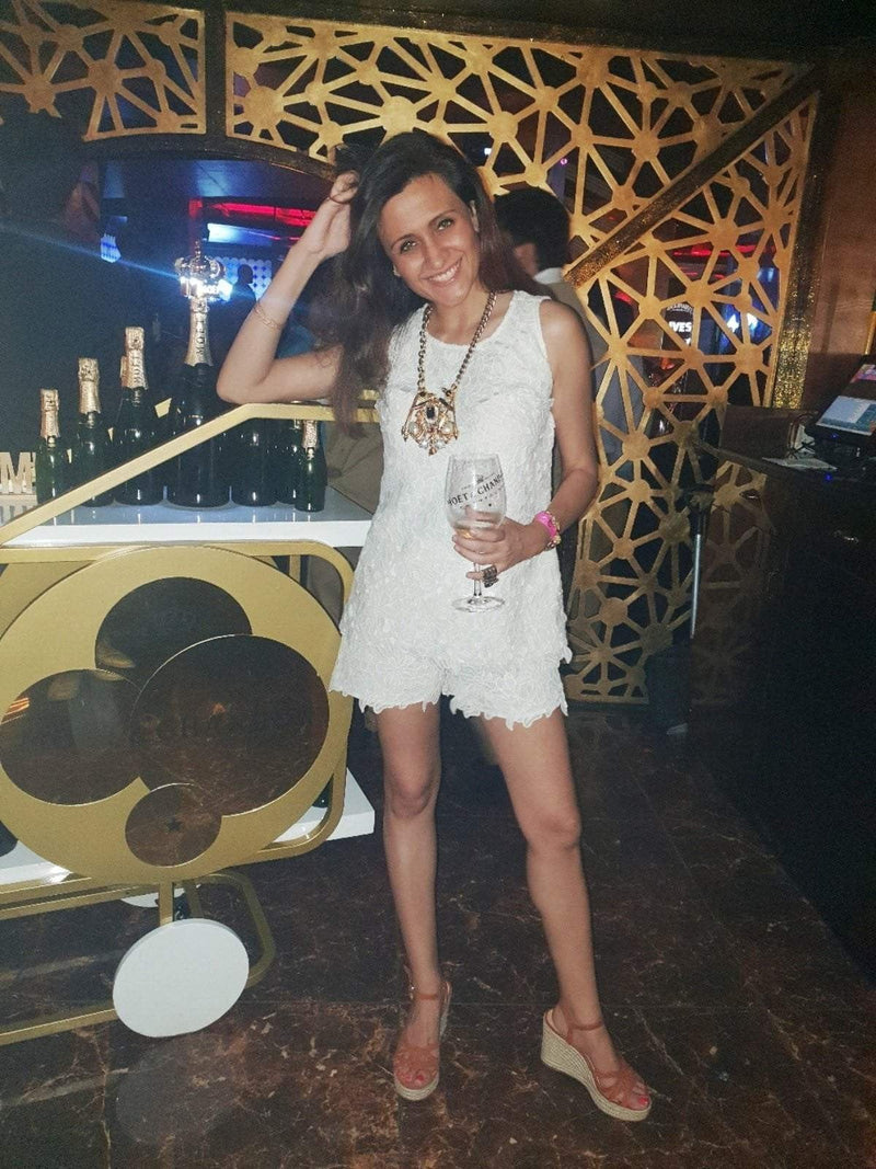 Lace Shorts & Top Set - Mitaliwadhwa