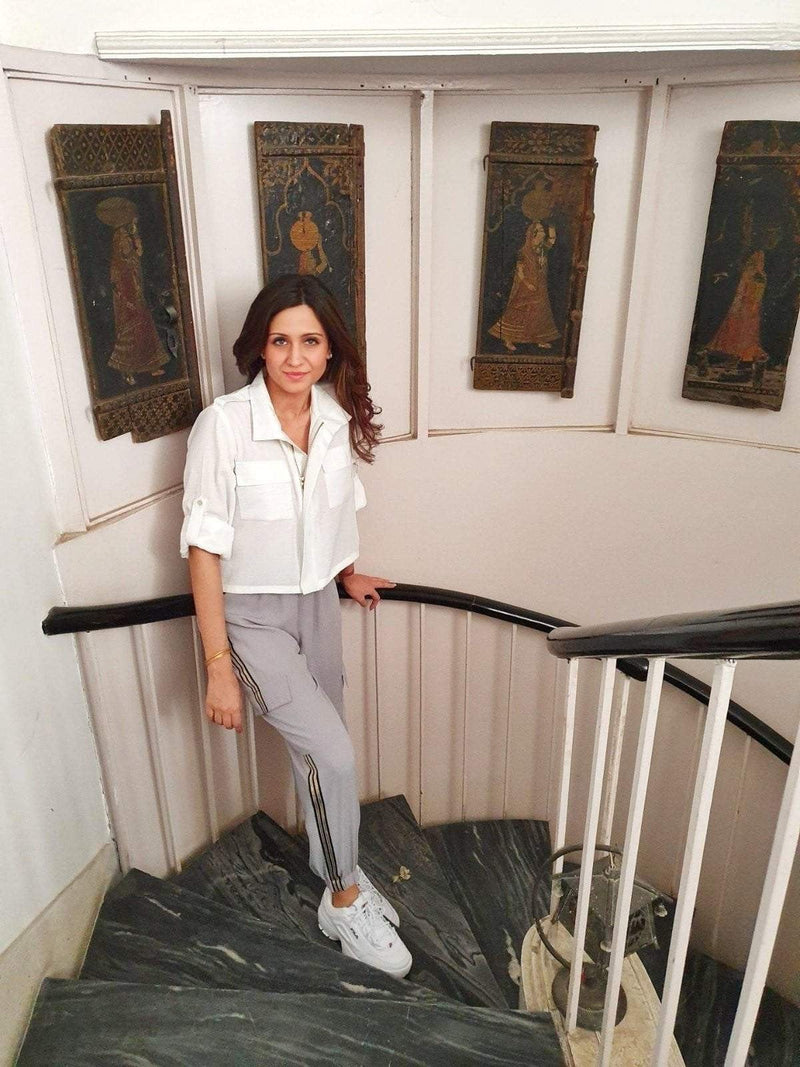 CARGO PANTS WITH A SPORTY JACKET - Mitaliwadhwa