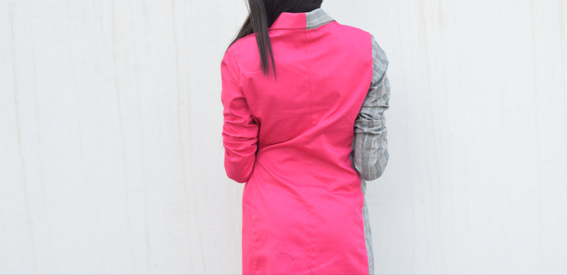 Dual Shade Coat Dress