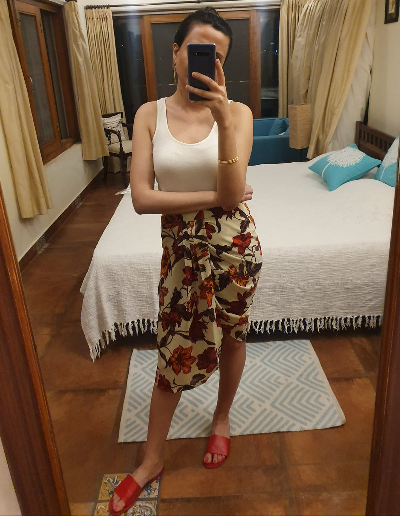 Super Fun Floral Dhoti Skirt
