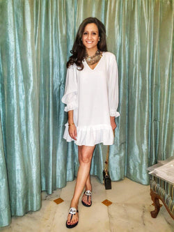 White Frill Dress - Mitaliwadhwa
