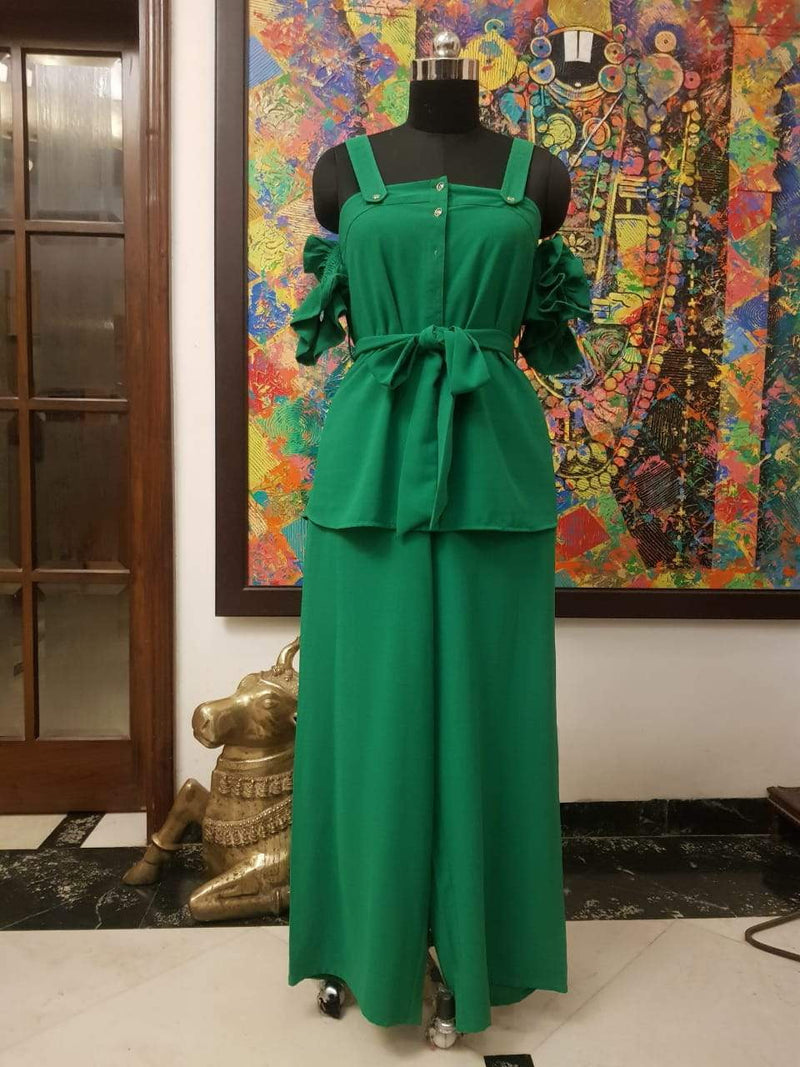 Green Coordinated frill set