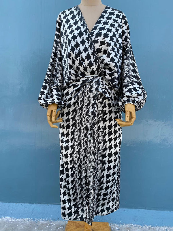 Black & white check dress