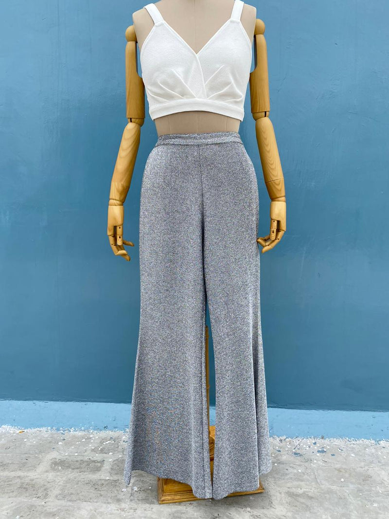 Silver Sparkle Lurex Pants