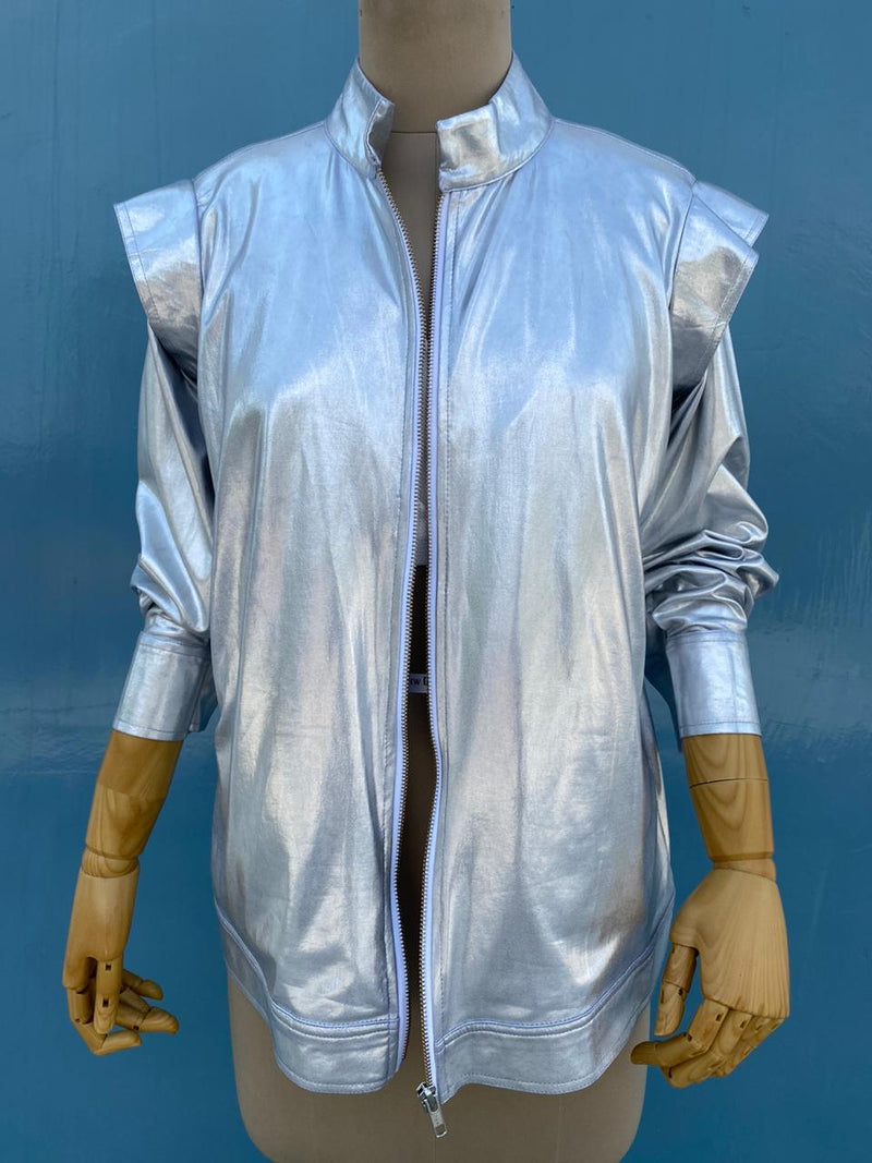 Metallic Stretch Jacket