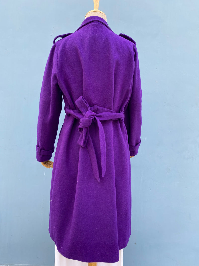 Woolen Purple Overcoat
