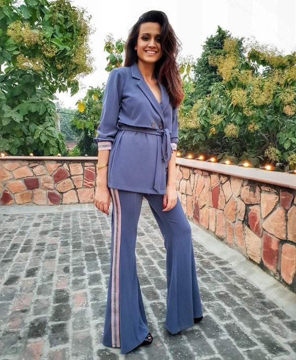 Bell Bottoms with a Matching Trench Pant Suit