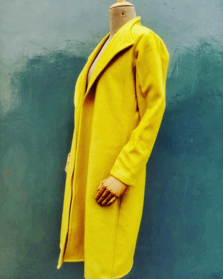 Neonish yellow Overcoat
