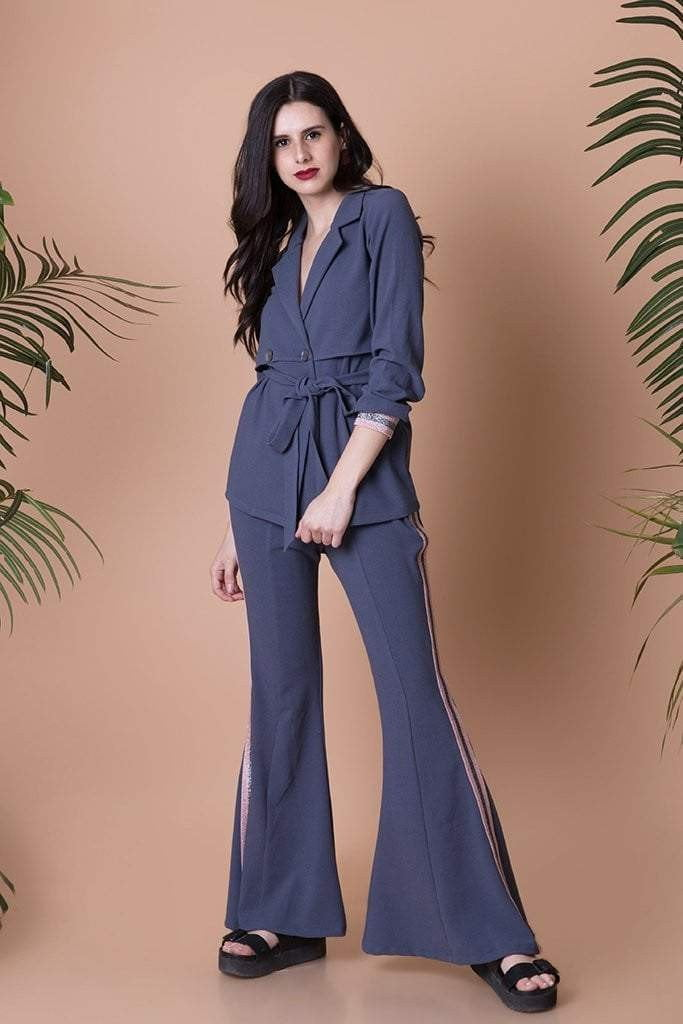 Bell Bottoms with a Matching Trench Jacket - Mitaliwadhwa