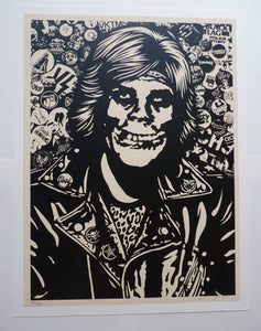Shepard Fairey 'Fiend Rocker (Black)'