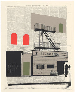Evan Hecox Screen Print 'Navy Yard Lounge'
