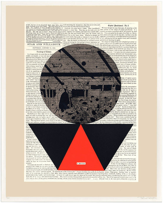 Evan Hecox  Screen Print  'A Question'