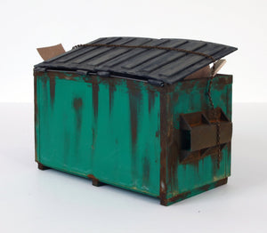 Drew Leshko - Green Dumpster (With Trash)