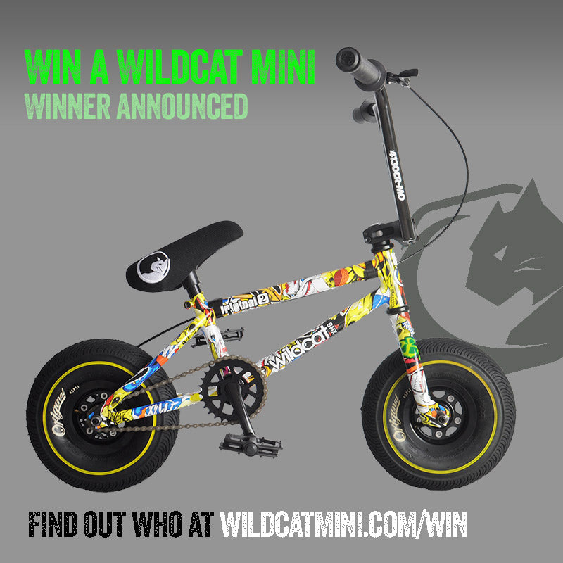 The winner of the Wildcat Mini BMX Crazy Boy is...