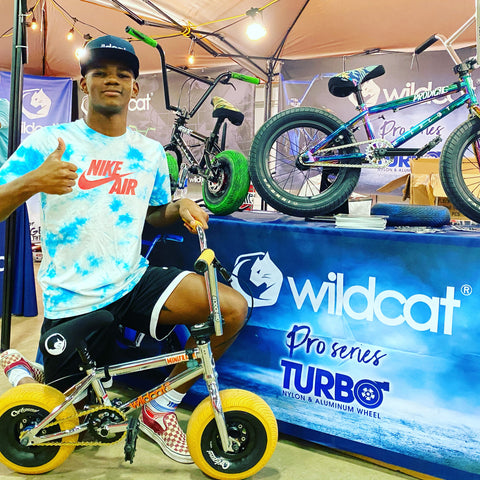 "Marshall ""Major"" Gherke representing Wildcat Mini BMX at USA BMX Grand Nationals"