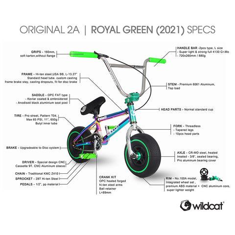 Wildcat Mini BMX Original 2A Royal Green 2021