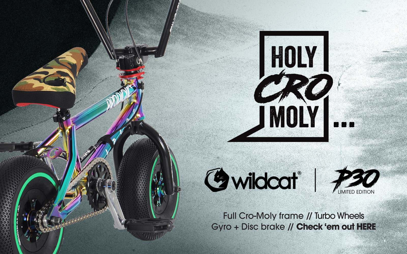 Wildcat Mini BMX Pro Series P30 full chromoly frame