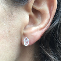 Herkimer Diamond Studs with Sterling Silver Posts and Backs