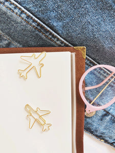 Airplane Gold Paperclip