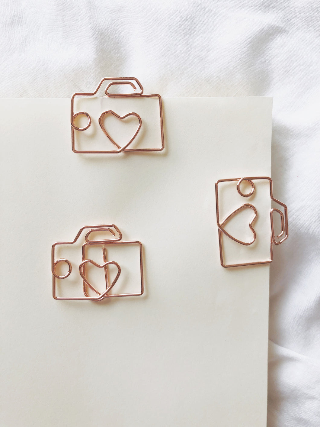 Camera Rose Gold Paperclips / bookmark